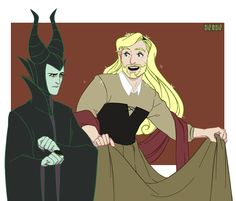 This is terrible, but I'm still repinning it. LOL Thor Odinson  & Loki Laufeyson  Sleeping Beauty crossover