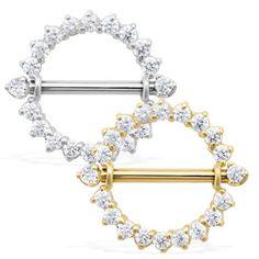 14K Real Gold (Nickel Free) Internally Threaded Nipple Ring Shield. #accessories #bodyjewelry #piercing #jewelry #piercings #bodymod #nipplejewelry #nippleshield ♥ $110.00 via OnlinePiercingShop.com