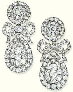 Diamond Earrings 1800 Christie's