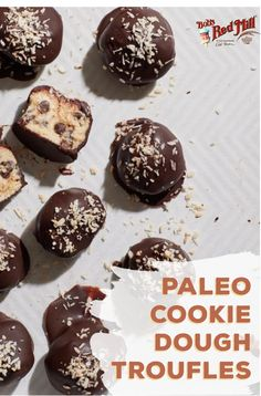 Why limit truffles to special occasions? If you're on a paleo diet and craving chocolate, try out our Paleo Cookie Dough recipe and treat yourself! Paleo Cookie Dough, Cookie Dough Truffles, Truffles Recipe, Cookie Dough Recipes, Paleo Diet, Keto, Craving Chocolate, Paleo Recipes Easy, Paleo Breakfast