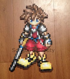 Sora Kingdom hearts  geekery perler keyblade by SongbirdBeauty, $12.00  Check out the latest items in my etsy store at www.etsy.com/shop/songbirdbeauty
