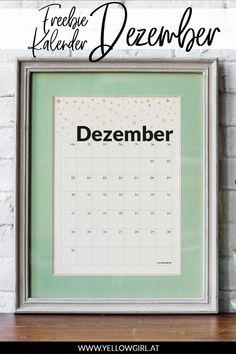 Das Ende des Jahres naht. Ich bin schon absolut in Weihnachtsstimmung und freue mich unglaublich darauf was das neue Jahr bringt und wie es weiter geht. Ich stehe ja wieder mal an einer Kreuzung in meinem Leben und muss entscheiden wie es ab 2019 weitergehen soll. Sobald ich es weiss, werde ich euch davon erzählen. Diy Blog, Calendar, German, Printables, Paper, Jewelry Making, Calendar To Print, Keep Walking, Diy Decoration