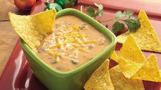 With two kinds of beans, hearty cheese dip has mouthwatering Mexican flavor.