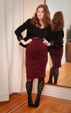 Link to pattern for ruched maternity pencil skirt Maternity Sewing, Maternity Fashion, Maternity Skirts, Fall Maternity, Maternity Outfits, Maternity Style, Pencil Skirt Outfits, Pencil Skirts, Pregnancy Looks