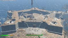 Best Fallout 4 Settlements - wait, you can build concrete foundations? Fallout 4 Tips, Fallout Four, Fallout Facts, Fallout Meme, Fallout New Vegas, Fallout 4 Settlement Ideas, 7 Days To Die, Base Building, Gaming Tips