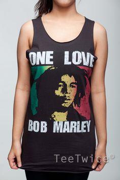 Bob Marley Shirt One Love Ska Reggae Shirts Women Tank by TeeTwice, $15.99