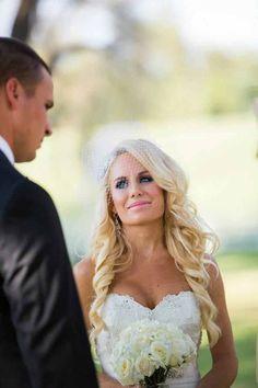 First Look wedding mermaid gown bride photos photography ideas
