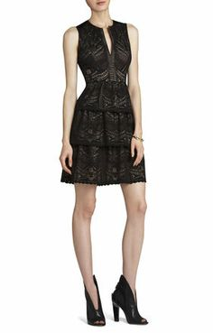 BCBG Maxazria SCARLETT TIERED EYELET DRESS - pictures don't do this one justice, so sexy and classy on, and so flattering.