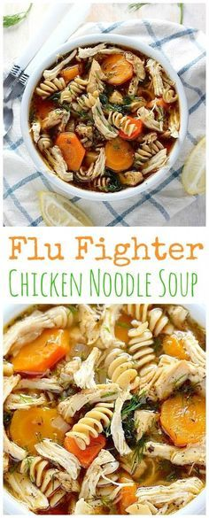 use herbs from this recipe in crock recipe.....AMAZING FLAVOR! Flu Fighter Chicken Noodle Soup is loaded with good for you ingredients and perfect for battling nasty Winter colds! Tastes so good you'll want it even when you're not sick!