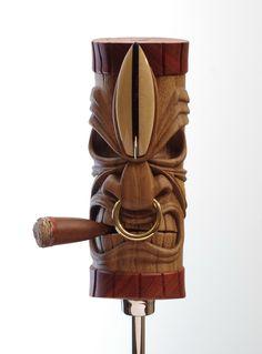 Tiki Man, Tiki Tiki, Rockabilly Art, Tiki Statues, Dremel Wood Carving, Tiki Totem, Tiki Lounge, Pole Art, Maori Designs
