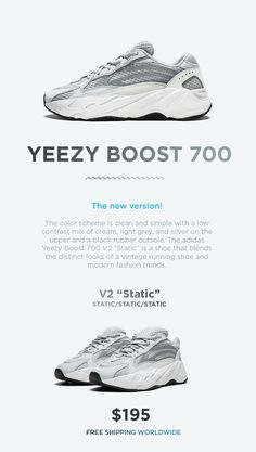 official photos c2b95 aab90 Adidas Yeezy Boost 700 V2 Static