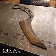 The Sinao Karambit has been heat treated and is now ready to receive the handle scales