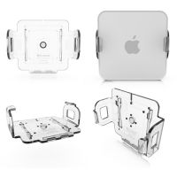 Mount Mac Mini and flat screen monitor to the wall and eliminate the your desk from a small cabin