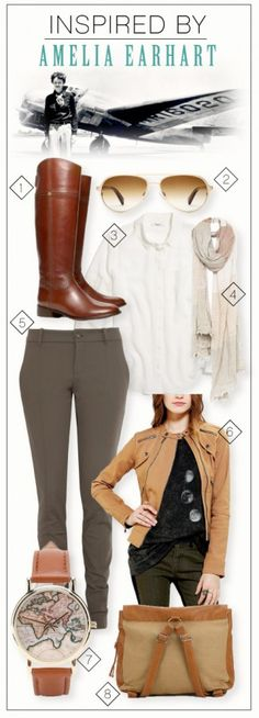 Inspired By: Amelia Earhart | via Move LifeStyle by @Autumn Reeser