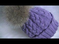Вязание шапки узором Коса с 12 петель.Knitting hats pattern Kos with 12 loops - YouTube