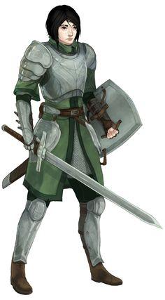 f Fighter plate shield sword Fierce Lady Warriors Character Portraits, Character Art, Character Creation, Character Ideas, Female Armor, Female Knight, Dragon Knight, Knight Art, Fantasy Armor