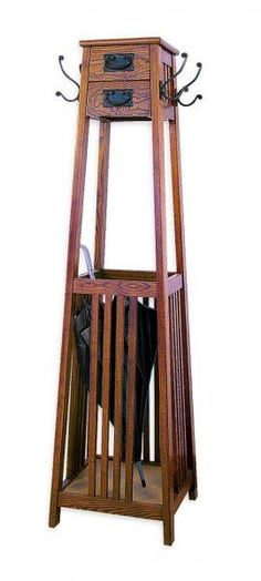 "Mission Style Coat Rack (Brown) (60""H x 16""W x 16""D) By Wayborn Furniture"
