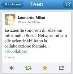 @Leonardo Milan uno degli autori di #iocollaboro propone un piccolo assaggio dei temi che tratterà...