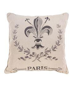 Look what I found on #zulily! Fleur-de-Lis 'Paris' Pillow #zulilyfinds