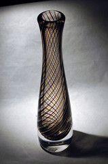 Magnor, Norway, Art glass vase by Eystein Sandnes, 50's