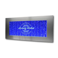 Large Horizontal Wall Mount Bubble Wall Panel Water Feature with Your Logo Engraved on the Panel The Perfect addition for your Salon, Spa, Restaurant, or other business that wants to delight their cus Indoor Water Fountains, Indoor Fountain, Wall Fountains, Wall Aquarium, Indoor Water Features, Bubble Wall, Clinic Design, Water Walls, Spa