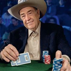 Doyle Brunson.  When this man has 10-2 in the hole, RUN.
