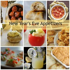 New Year's Eve Appetizers Every New Years party needs some yummy food. Here are some of our favorite New Year's Eve Appetizers from the momitforward community. New Year's Eve Appetizers, Quick And Easy Appetizers, Easy Appetizer Recipes, Yummy Appetizers, New Year's Food, Good Food, Yummy Food, Awesome Food, Wonderful Recipe