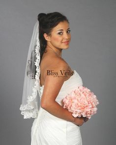 Lace Bridal Veil - 1 Layer Veil - Available in 8 Sizes & 3 Colors - Fast Shipping! Wedding Veils, Wedding Dresses, Lace Wedding, Dream Wedding, Short Veil, Thing 1, Lace Veils, Rustic Wedding, Wedding Ideas