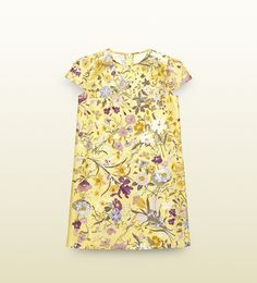 kid's silk floral dress