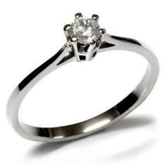 Stainless Steel Prong Set Round Cubic Zirconia Promise Ring Eternal Sparkles. $19.99