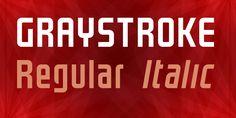 GRAYSTROKE Regular and Italic free fonts by Néstor Delgado #free #fonts