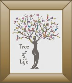 Tree of life Cross Stitch Pattern, PDF, DMC Threads, Instant Download by KnitSewMake on Etsy