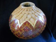 "*Gourd Art - ""Artichoke Leaf"" by Mary Velasquez"