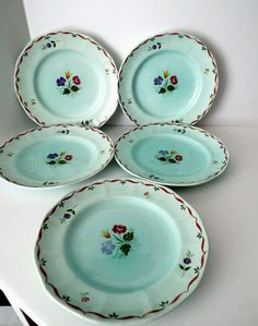 Vintage Adams Calyxware Allegro Dinerware Salad Desert Plates Set of 5