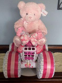 My 1st Teddy Diaper Bike, Diaper Creations, Diaper Cakes