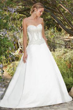 Wedding gown by Casablanca Bridal.