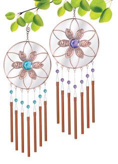 Grasslands Road Mirror Disk Flower Windchime Assortment #Flower #WindChimes #GardenDecor #NoiseMaker #Mirror #PatioDecoration #WeddingDecor #Retreat #GrasslandsRoad #GiftIdea #GardenRetreat