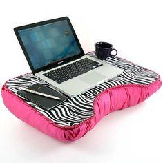 Medium Hot Pink Zebra Kids Lap Desk by LapDeskLady on Etsy