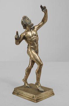 Miniature Turn of the Century Silver Plated Bronze Mythological Figure image 3