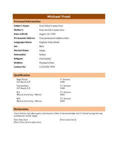 sample resume bio data Biodata - What it is + 7 Biodata Resume Templates Microsoft Resume Templates, Teacher Resume Template, Best Resume Template, Microsoft Word, Job Resume Format, Resume Format Download, Sample Resume, Biodata Format Download, Writing A Bio