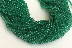 WHOLESALE 5 Strands Green Coated Quartz Beads by gemsforjewels