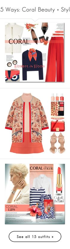 """""""15 Ways: Coral Beauty + Style"""" by polyvore-editorial ❤ liked on Polyvore featuring waystowear, coralbeauty, ESCADA, DVF, RED Valentino, Fendi, Miu Miu, NARS Cosmetics, OPI and TONYMOLY"""