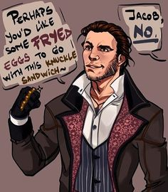 Jacob yes  @the.official.evie.frye #assassinscreed #assassin…