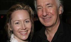 Megan Dodds and Alan Rickman