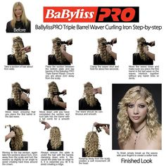 Babyliss Ceramic Triple Barrel Curling Iron (Ceramic) :: Free Express Post