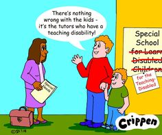 Teaching Disabled Cartoon