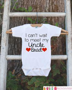 Pregnancy Announcement - I Can't Wait to Meet My Uncle - New Uncle Pregnancy Reveal Idea - Surprise Baby Announcement - I Love My Uncle