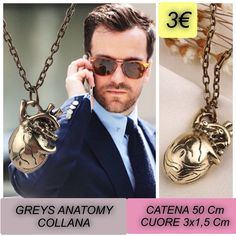 COLLANA GREYS ANATOMY CUORE 3€