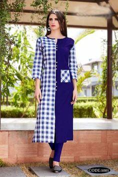 Bulk Supplier Of Kurtis Printed Kurti Designs, Simple Kurti Designs, Salwar Designs, Kurta Designs Women, Stylish Dress Designs, Stylish Dresses, Blouse Designs, Mode Abaya, Kurta Neck Design