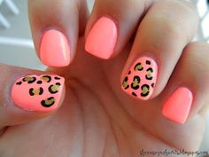 pink and leopard nails!